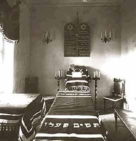 Interior of the prayer room in the St. Nicholas military hospital