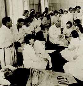 Students of First Medic Institute at their classes. 1932. Photo