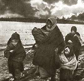 The refugees. 1941. Photo