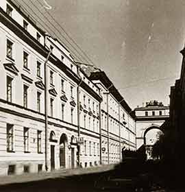 No.3, Galernaya street, in which the first headquarters of ORT was located